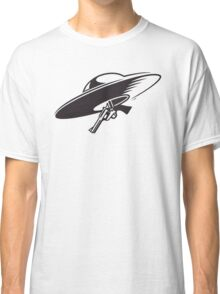 Space Cowboy / Flying Saucer With Sixgun Classic T-Shirt