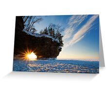 Fading Warmth, Apostle Islands, WI Greeting Card