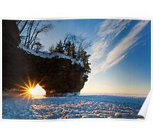 Fading Warmth, Apostle Islands, WI Poster