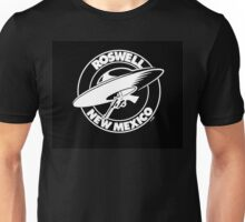 Roswell New Mexico Flying Saucer & Colt 45 Sixgun Unisex T-Shirt