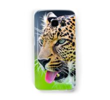 Leopard showing his tongue Samsung Galaxy Case/Skin