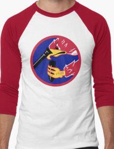 492d Fighter Squadron Emblem Men's Baseball ¾ T-Shirt