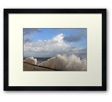 Crashing Waves Cumbrian Coastline Framed Print