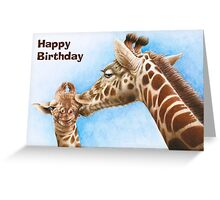 Giraffe & Calf Birthday Card Greeting Card
