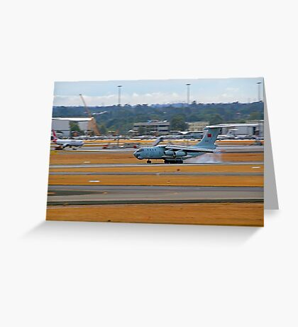 China Air Force Ilyushin Il-76 - Perth Airport Greeting Card