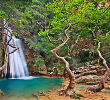 Waterfall in Neda canyon by Hercules Milas