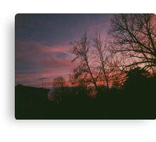6:34, suburbs, winter Canvas Print