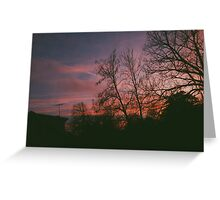6:34, suburbs, winter Greeting Card