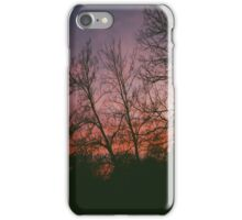 6:34, suburbs, winter iPhone Case/Skin