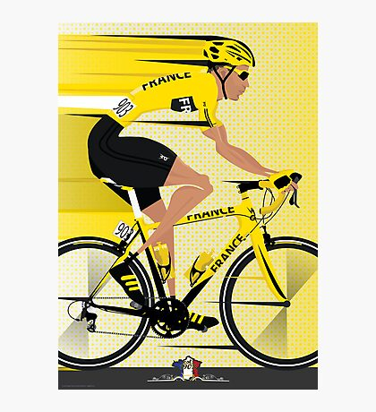 France Yellow Jersey Photographic Print