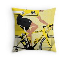 France Yellow Jersey Throw Pillow
