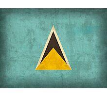 Saint Lucia Flag Photographic Print