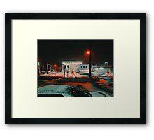 8:26, walking during a blizzard Framed Print
