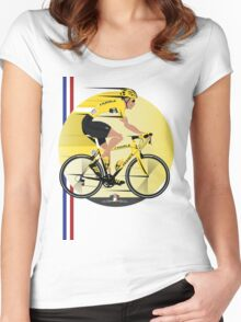 France Yellow Jersey Women's Fitted Scoop T-Shirt