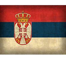 Serbia Flag Photographic Print