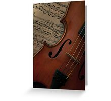 Rare old violin with bow Greeting Card