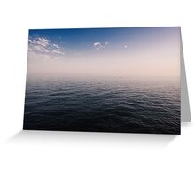 far out on the ocean Greeting Card