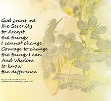 Serenity Prayer Pear Blossoms One by serenitygifts