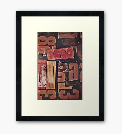 A collection of wood type Framed Print