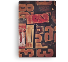 A collection of wood type Canvas Print