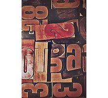 A collection of wood type Photographic Print