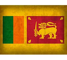 Sri Lanka Flag Photographic Print