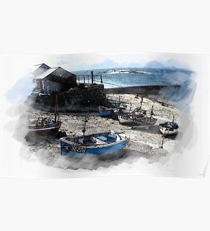 Sennen Harbour Poster