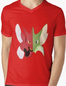 Syther #123 and Scizor #212 Mens V-Neck T-Shirt