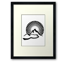 Hiking mountains beautiful Sun Framed Print