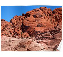 Rock Climbers at Red Rock Canyon Poster