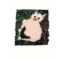 Joker Kitty Art Print