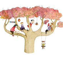 Playing In The Tree by Judith Loske
