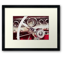 Ford Mustang Steering Wheel Framed Print