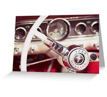 Ford Mustang Steering Wheel Greeting Card