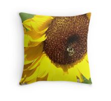 The Bumble Bee Flower Throw Pillow