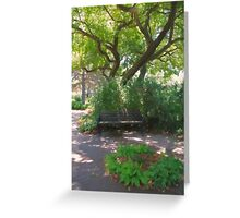 Trees A-glow Greeting Card