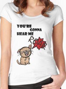 ROAR. Women's Fitted Scoop T-Shirt