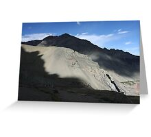 Afternoon Light near Shang Sumdo, Ladakh Greeting Card