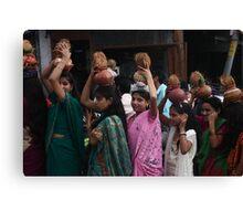 Girls of Dharamshala Canvas Print