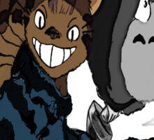 Totoro and Cat Bus Sticker