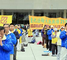 Falun Gong Practitioners by Valentino Visentini