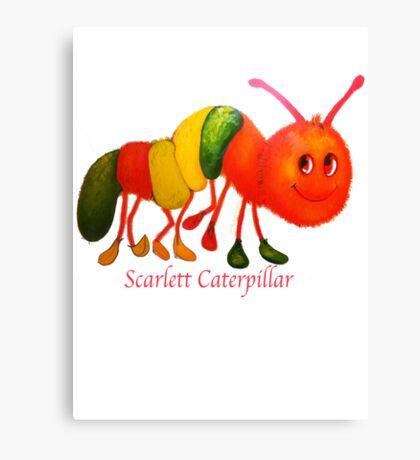 Scarlett Caterpillar Canvas Print