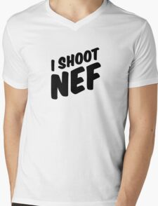 I shoot NEF Mens V-Neck T-Shirt