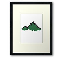 Beautiful green mountains Framed Print