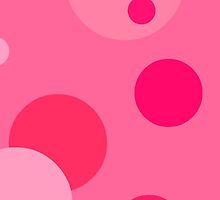 Pink Polka Dot Bubbles iPhone Case by nkfauxtography