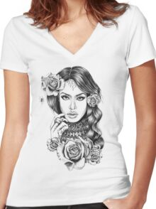 Aaliyah Women's Fitted V-Neck T-Shirt