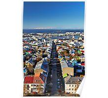 Reykjavik Cityscape Poster
