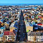 Reykjavik Cityscape Panorama by Jasna
