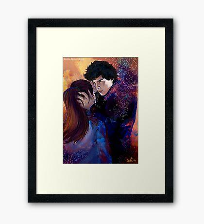 Sherlock and Molly Framed Print