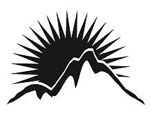 Beautiful mountains Sun logo by Style-O-Mat